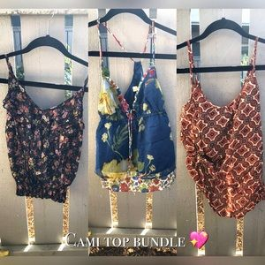 3 camisole blouses